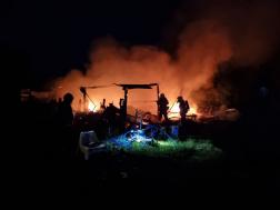 Leégett egy melléképület