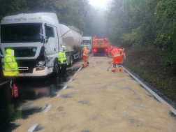 Kamion baleset 3